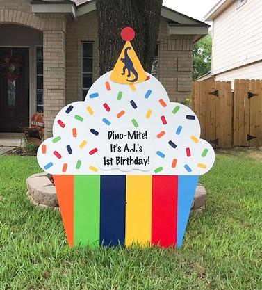 Rainbow Stripe Cupcake