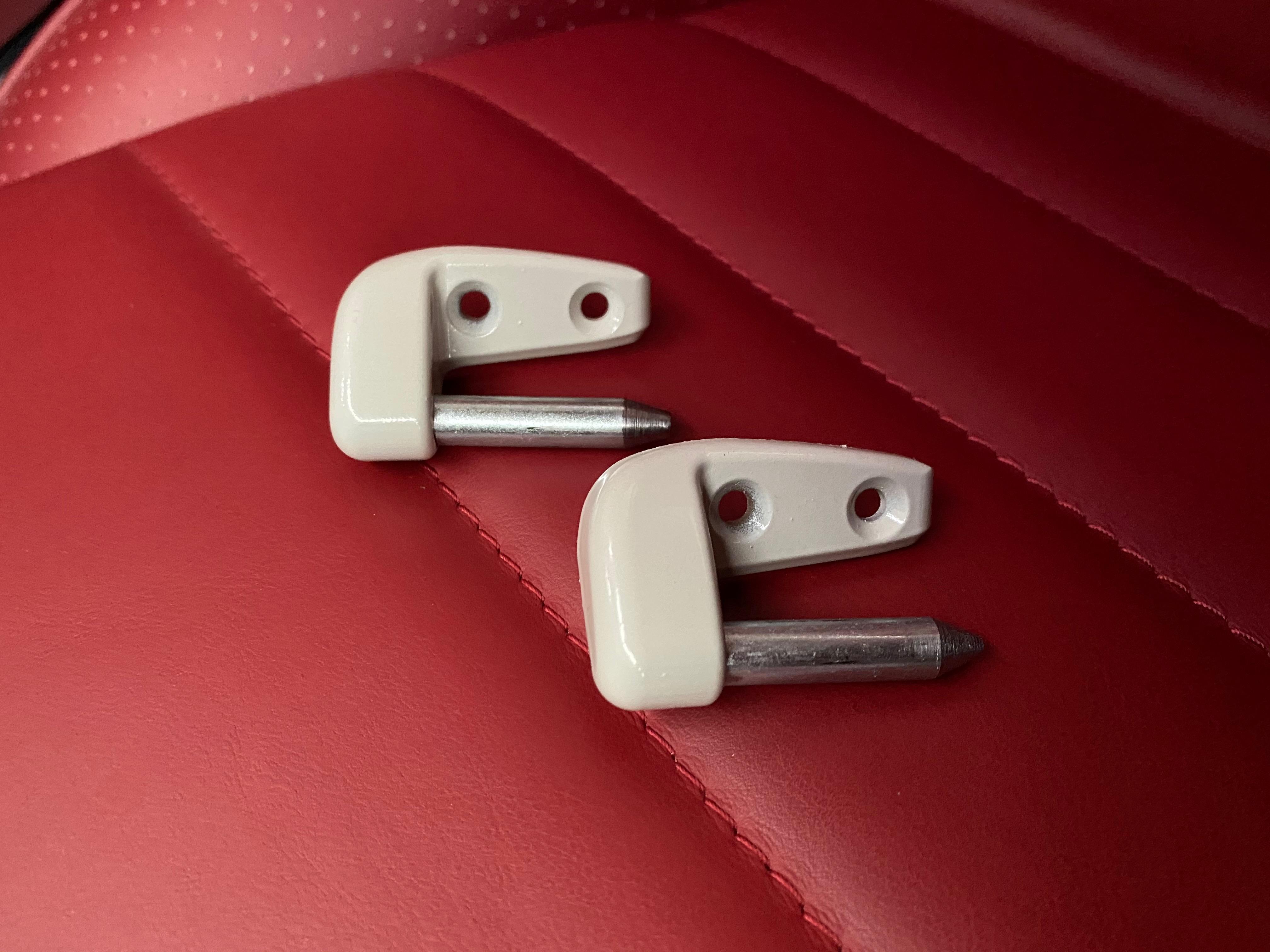 Porsche 911 912 SWB 1966-1968 new sun Visor Pivot Pins