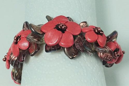 Coral Petite Floral Bracelet
