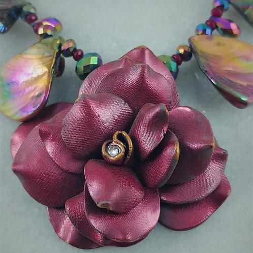 Antique Rose Necklace