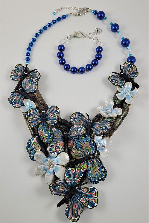 Caned Clay Bibb Butterflies