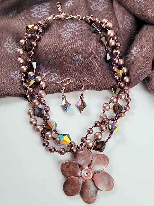 Copper Twisted Necklace