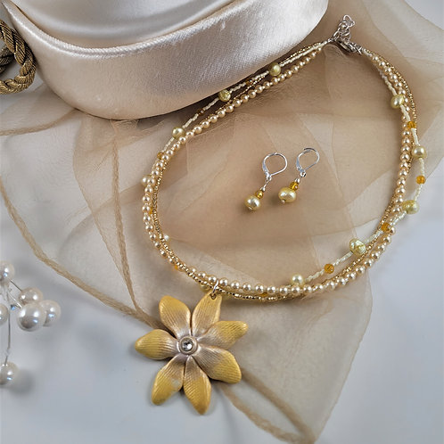 Pale  Yellow Necklace