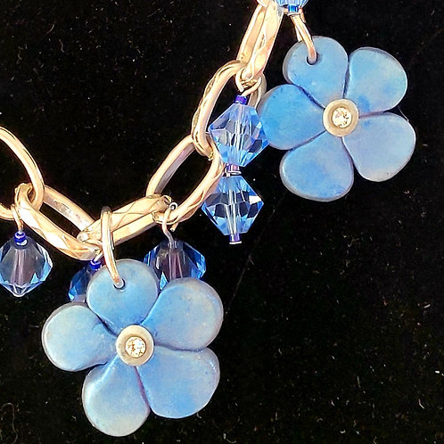 Blue Flowers on Chain