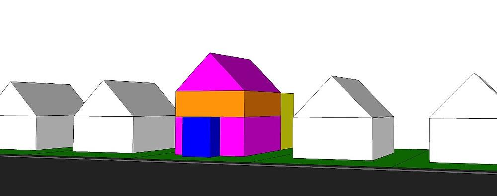Maison et possibilités de zonages