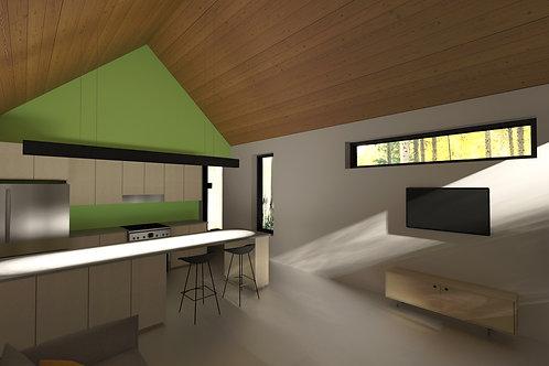 Plans préliminaires - La modern barn