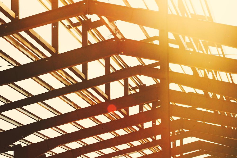 structure d'acier bâtiment