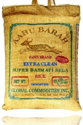 Aahu Barah Basmati Sela Rice 20LB