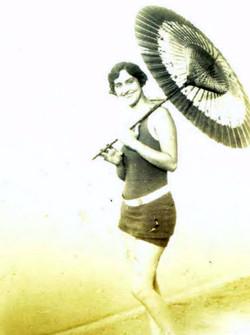 Hazel with Umbrella