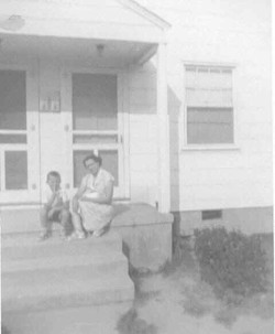 Marie G. Eubank with Son