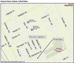 Map of Warwick Gardens
