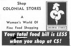 Colonial Stores Advertisement