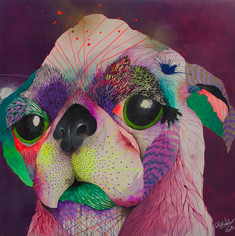 Salvador Alterego 120 x 120 cm Mix media on Canvas Panamá City. Panamá