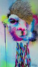 Lorenzo Superstar 90 x 50 cm Mix media on Canvas Quito. Ecuador