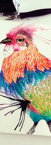 Kiki Mixed Media on Cotton Paper 20 x 30 cm Quito. Ecuador 2015