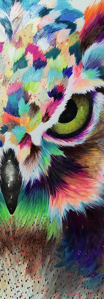 Midnight Merlin Mixed Media on Cotton Paper 40 x 40 cm Quito. Ecuador. 2018
