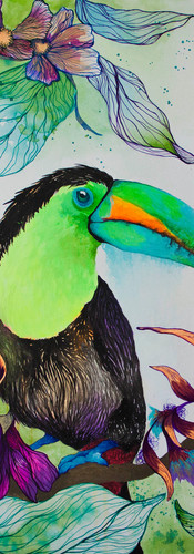 Ecuador. Mixed Media on Canvas 80 x 80 cm Los Angeles. USA 2017