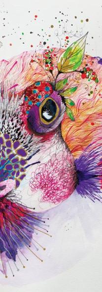 Red Fruit Blowfish / Kacau Chocolates Mixed Media on Cotton Paper 36 x 56 cm Quito. Ecuador 2014