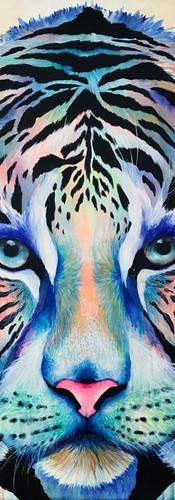 Abrazo de Luna Mixed Media on Canvas 100 x 100 cm Miami Fl. 2017