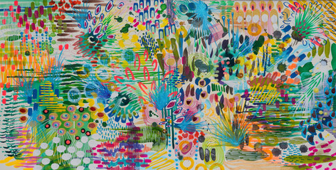 Tuesday Blues. 56 x 28 cm Mixed media on heavyweight cotton paper 2019 AVAILABLE FOR FINE ART PRINTS.  Original SOLD