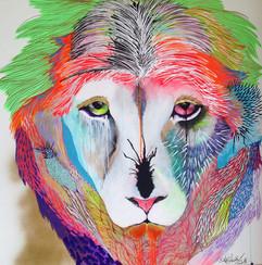 Sad Facundo 120 x 120 cm Mix media on Canvas Quito. Ecuador
