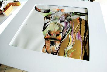 Torofusión 60x60 cm Mix media on Cotton Paper Quito. Ecuador