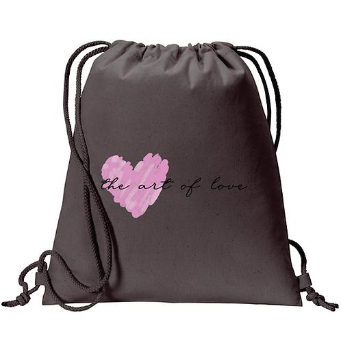 Gray Drawstring Backpack