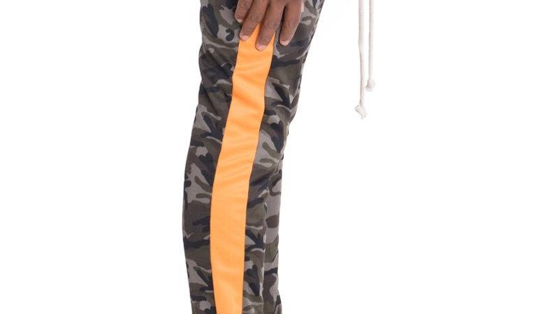 NEUTRAL CAMO TRACK PANTS- ORANGE