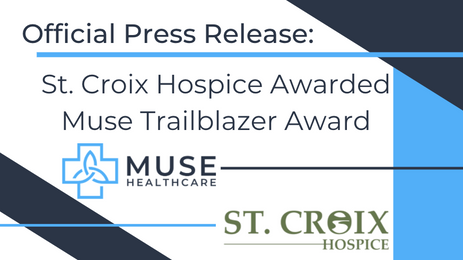 St. Croix Hospice Receives MUSE Trailblazer Award for Adopting Machine Learning Technology