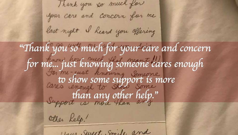 Home health clinician thank you note