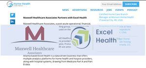 Home Health Care News Maxwell Healthcare Associates and Excel Health partnership