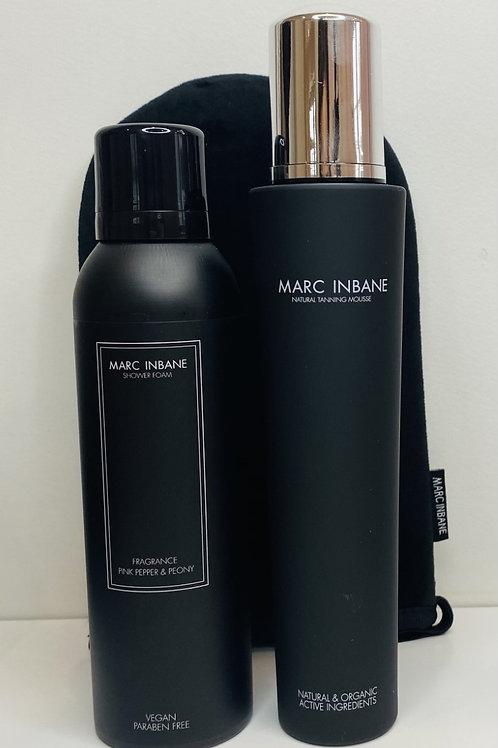 Lot Marc Inbane - mousse de douche + Mousse bronzante + Gant OFFERT
