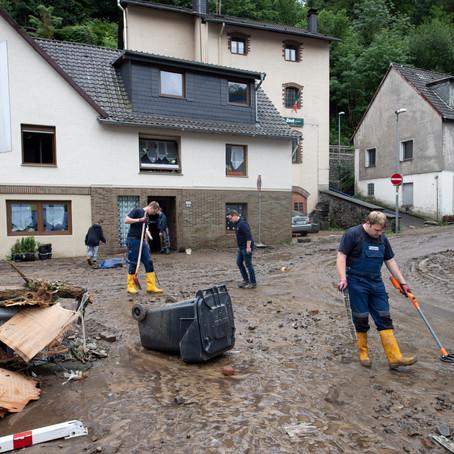 #Flutkatastrophe: Aufräumarbeiten gehen weiter
