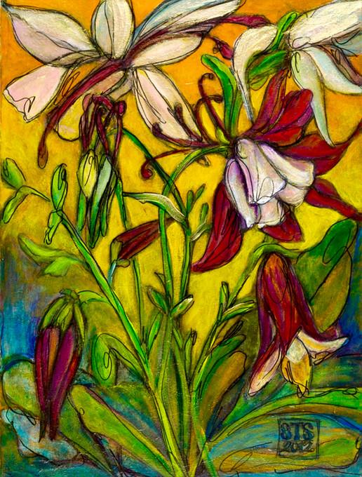 """Wonderland IV,""  24"" x 30"", Acyrlic and Mixed Media on Canvas, 2011"