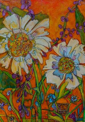 """Wonderland VII,""  24"" x 30"", Acyrlic and Mixed Media on Canvas, 2011"