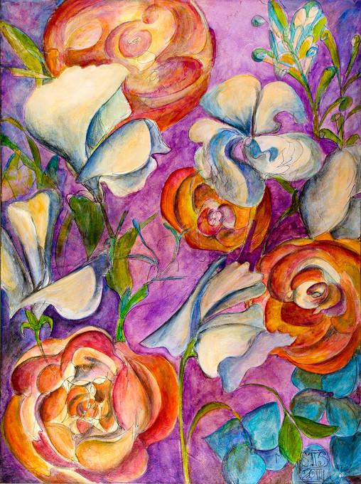 """""""Wonderland III,""""  36"""" x 48"""", Acyrlic and Mixed Media on Canvas, 2011"""
