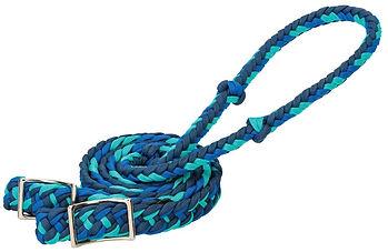 35-2051 Nylon Barrel Reins BLUE.jpg