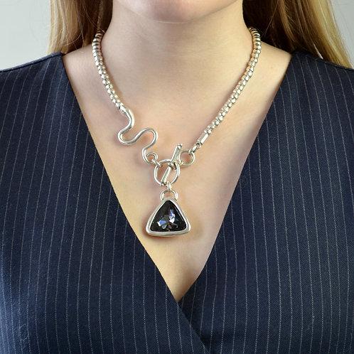 triangle gem necklace