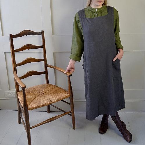 Cross back apron style dress