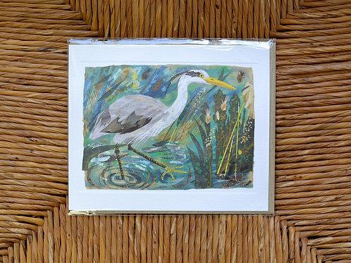 Mark Hearld Heron card