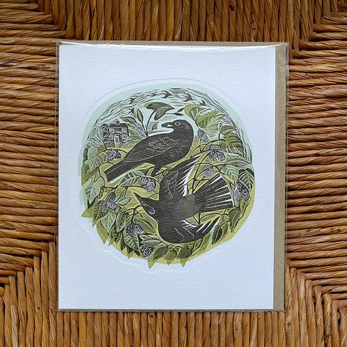 Angela Harding 'August Blackbird' card
