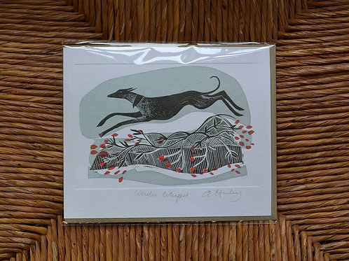 Angela Harding 'Winter Whippets' card