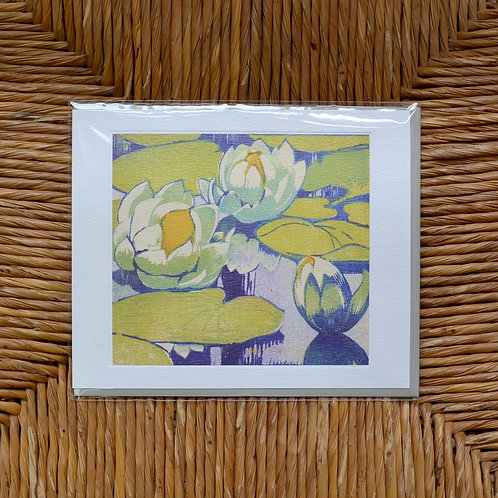Mabel Royds 'Water Lillies' card
