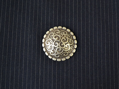 ornate dome brooch