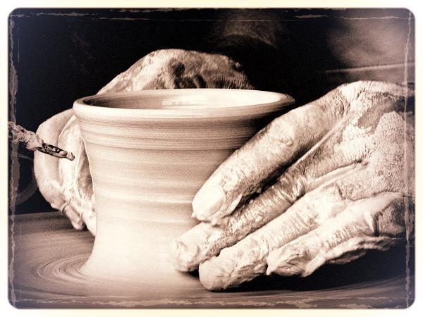 Hand thrown creamware