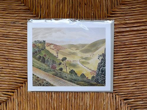 Eric Ravilious 'The Causeway' card