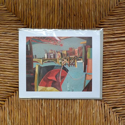 John Minton 'Bridge from Cannon street station' card