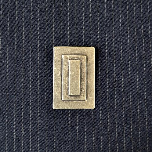 modern cubic brooch