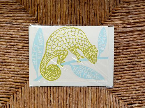 Cambridge Imprint 'Happy Birthday Iguana' card