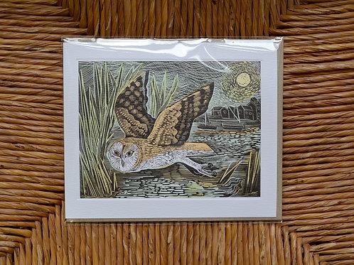 Angela Harding 'Marsh Owl' card